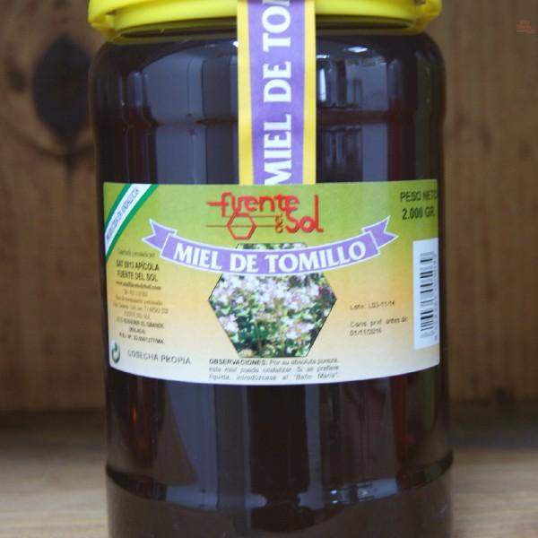 Miel de Tomillo, Alimento Natural de Apícola Fuente del Sol de Alhaurín el Grande, Málaga